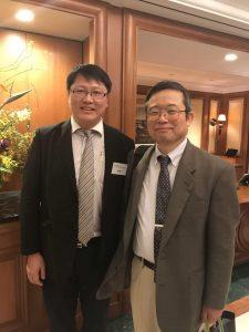 小林久隆先生と (左は弊社代表取締役・楊楊)